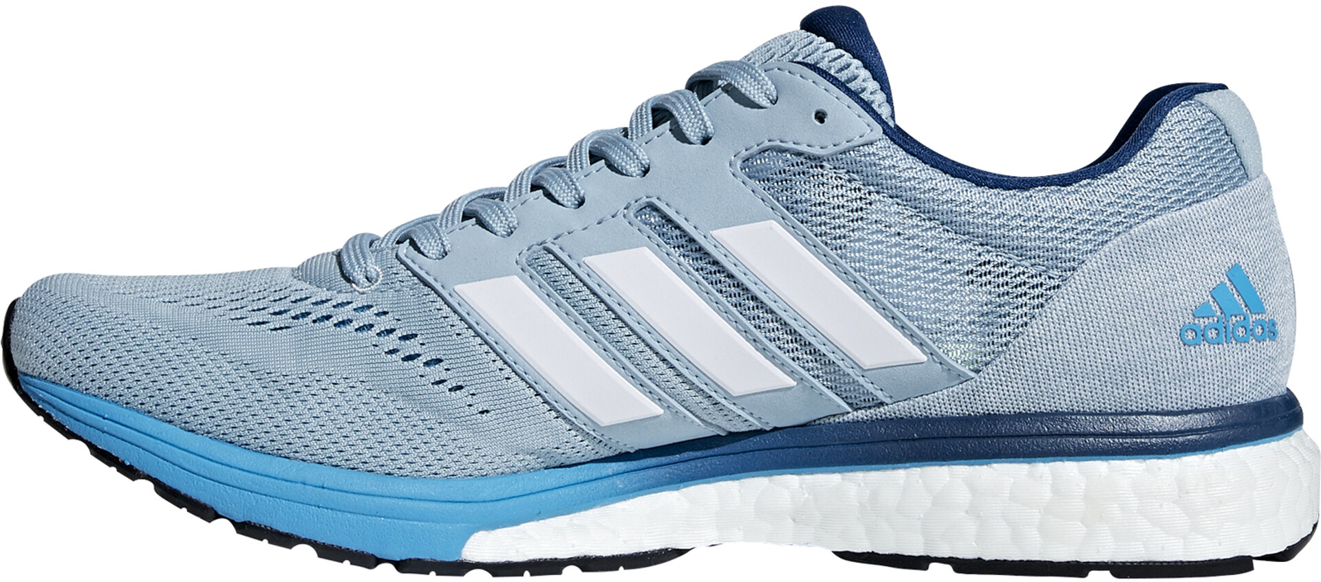Adidas Adizero Zapatillas Whiteshock Boston HombreAsh 7 Greyftwr Cyan rCoexBWd
